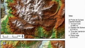 Map Of Picos De Europa Spain Location Of Moraine Landforms A Picos De Europa Cantral