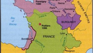 Map Of Poitiers France 100 Years War Map History Britain Plantagenet 1154 1485
