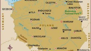 Map Of Poland In Europe Map Of Poland