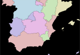 Map Of Portugal and Spain with Cities Autonomous Communities Of Spain Wikipedia