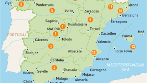 Map Of Portugal and Spain with Cities Map Of Spain Spain Regions Rough Guides