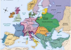 Map Of Pre War Europe Map Of Europe Circa 1492 Geschichte Landkarte