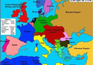Map Of Pre War Europe World War One Map Fresh Map Of Europe In 1914 before the