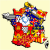 Map Of Provinces In France French Regions Flag Map by Heersander Heritage France