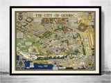 Map Of Quebec City Canada Old Map Of Quebec City Canada Pictorial Map