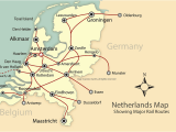 Map Of Rail Lines In Europe Rail and City Map Of the Netherlands Holland Mapping Europe