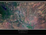 Map Of Redding California Redding California Satellite Poster Map Pinterest Redding