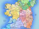 Map Of Republic Of Ireland Showing Counties Detailed Large Map Of Ireland Administrative Map Of Ireland