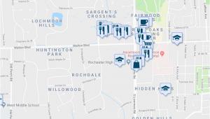 Map Of Rochester Hills Michigan 123 Rochdale Drive south Rochester Hills Mi Walk Score