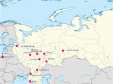 Map Of Russia and Eastern Europe World Cup 2018 Russia Map Of Cities with Venues Map Of