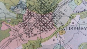 Map Of Salisbury north Carolina 1914 Antique Map north Carolina Rowan County Salisbury Spencer 28 X