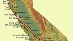 Map Of San andreas Fault In southern California San andreas Fault Line Fault Zone Map and Photos