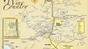 Map Of San Luis Obispo California Paso Robles Wine Tasting Map Paso Robles Daily News