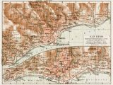 Map Of San Remo Italy Old Map Of Sanremo In 1913 Buy Vintage Map Replica Poster Print or