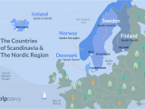 Map Of Scandinavia and northern Europe Countries Of Scandinavia and the nordic Region