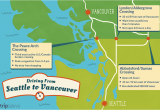 Map Of Seattle Washington to Vancouver Canada Seattle to Vancouver Canadian Border Crossing