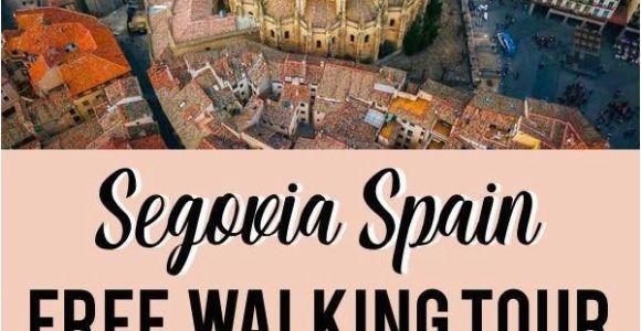 Map Of Segovia Spain the Only True Free tour Segovia Self Guided Walking tour Free