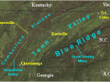Map Of Sevierville Tennessee Landform Map Of Tennessee Major Landforms Of East Tennessee