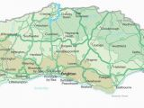 Map Of south East England Coast Map Of Sussex Visit south East England