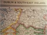 Map Of south East Ireland Dublin and south East Ireland Map Coloured 1909