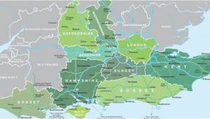 Map Of south Of England with towns Map Of south East England Visit south East England