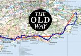 Map Of southampton England the Old Way to Canterbury the British Pilgrimage Trust