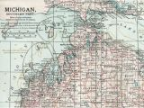 Map Of southeast Michigan Antique Map Of Michigan southern Part 1903 Vintage Map