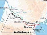 Map Of southeastern France Canal Du Midi Wikipedia