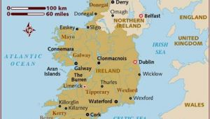 Map Of southern Ireland towns Map Of Ireland