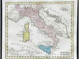 Map Of southern Italy and Sicily Italy 1800 1899 Date Range Antique Europe atlas Maps for Sale Ebay
