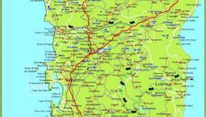 Map Of southern Italy with Cities Large Detailed Map Of Sardinia with Cities towns and Roads