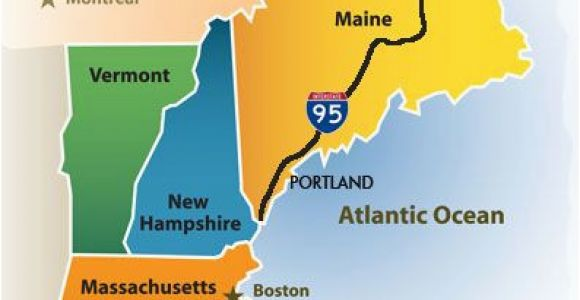 Map Of southern New England Greater Portland Maine Cvb New England Map New England