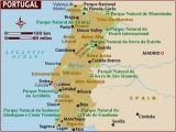 Map Of southern Portugal and Spain Map Of Portugal