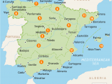 Map Of southern Spain Holiday Resorts Map Of Spain Spain Regions Rough Guides