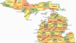 Map Of southwestern Michigan Michigan Counties Map Maps Pinterest Michigan County Map and