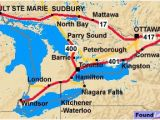 Map Of southwestern Ontario Canada to and From toronto Ontario and the Trans Canada Highway