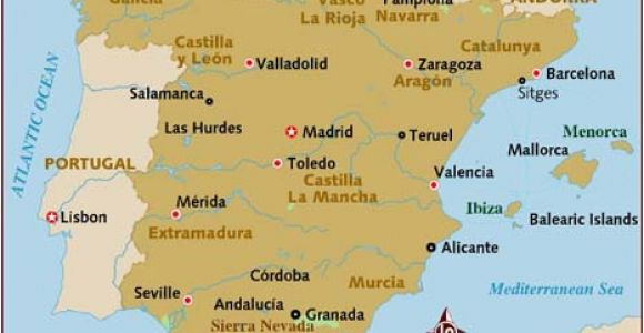 Map Of Spain and Balearic islands Map Of Spain