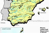Map Of Spain and Major Cities Rivers Lakes and Resevoirs In Spain Map 2013 General Reference