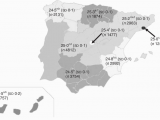 Map Of Spain and Regions Distribution Of Mini Nutritional assessment total Score In Spain