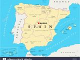 Map Of Spain Autonomous Communities Spain Map Stock Photos Spain Map Stock Images Alamy
