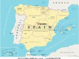 Map Of Spain Autonomous Communities Spain Political and Administrative Divisions Map