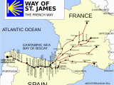 Map Of Spain Camino De Santiago French Way Wikipedia