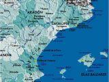 Map Of Spain Coast Detailed Map Of East Coast Of Spain Twitterleesclub