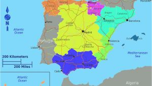 Map Of Spain In Spanish Dividing Spain Into 5 Regions A Spanish Life Spain Spanish Map