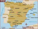 Map Of Spain Main Cities Map Of Spain