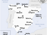 Map Of Spain Main Cities Spain Wikipedia