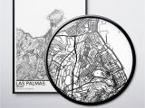 Map Of Spain Printable Las Palmas Map Poster Print Wall Art Spain Gift Printable