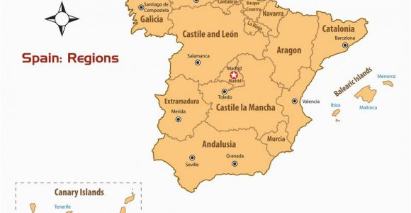 Map Of Spain Provinces and Cities Regions Of Spain Map and Guide