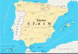 Map Of Spain Provinces and Cities Spain Map Stock Photos Spain Map Stock Images Alamy