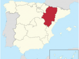 Map Of Spain Regions and Cities Aragon Wikipedia